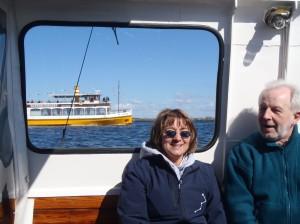 Thea mit Hans auf der Sylvia