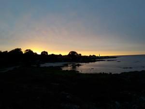 Sonnenuntergang über Allinge
