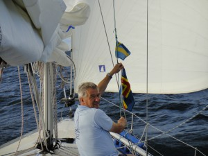 Flaggenwechsel vor Åland